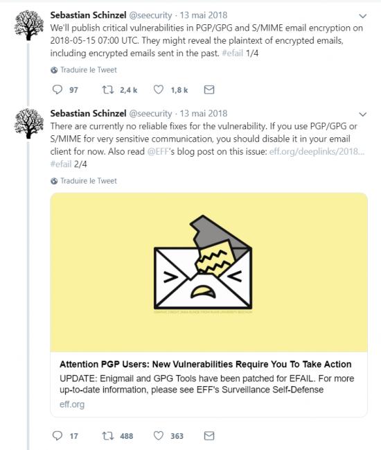 sebastian schinzel tweet EFAIL